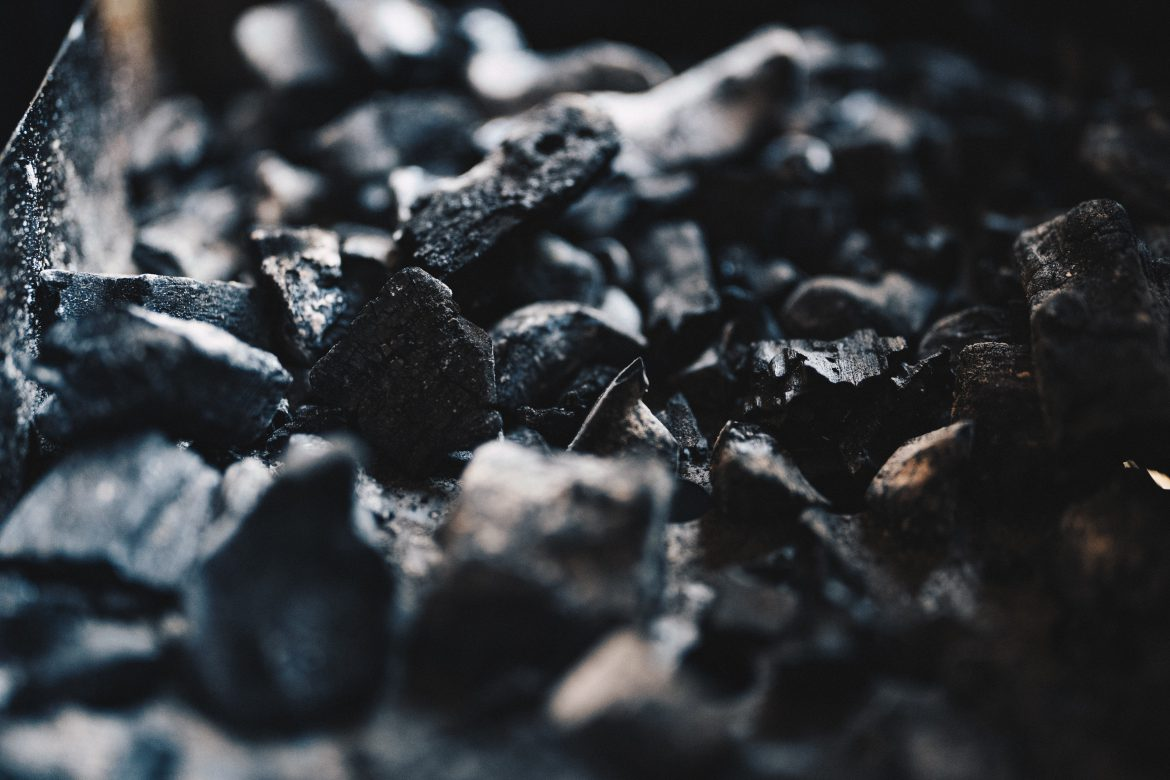 Close up shot of extracted coal for the harland resources news page